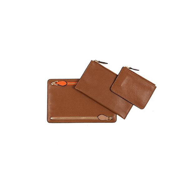 WELLINGTON LEATHER TRAVEL SET  - COGNAC