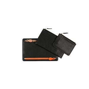 WELLINGTON WALLET SET  - BLACK