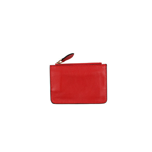 IVY MINI LEATHER WALLET  - RED