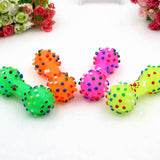1pcs Pet Dog Cat Puppy Sound Polka Dot Squeaky Toy