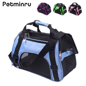 Portable Pet Backpack Messenger Carrier Bag