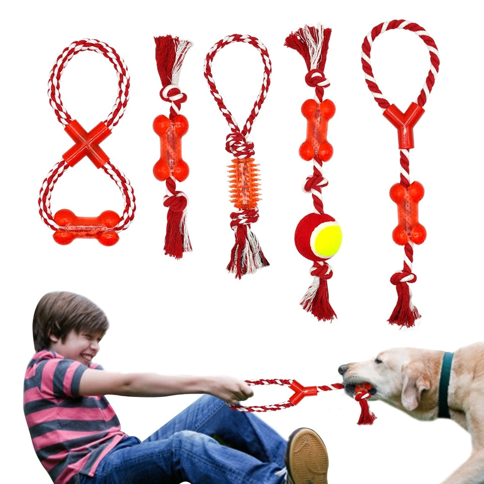 Cotton Pet Dog Rope Chew Tug Toy
