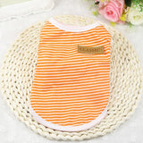Cotton Striped Vest Pet Cat T Shirt
