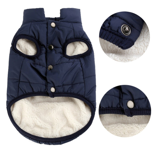 100% Cotton Autumn Winter Windproof Warm Dog Cat Pet Vest Coat Jacket XS-3XL