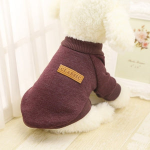 Classic Warm Dog Clothes Puppy Outfit Pet Cat Jacket Coat