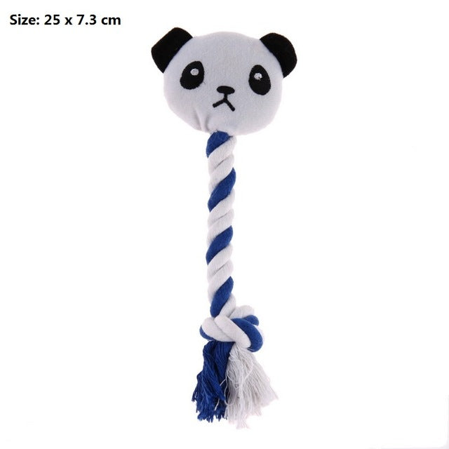 Interactive Chew Panda Knot Rope Ball Toys
