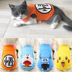 Summer Cartoon Printed Cat T Shirt
