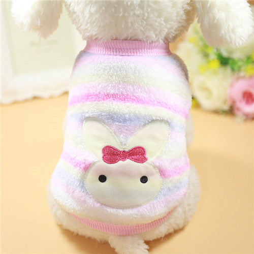 Small Dogs Cats Soft Fleece Cat Dog Coat Jacket
