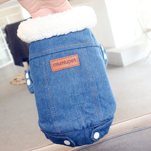 Pet Outfits Dog Denim Coat