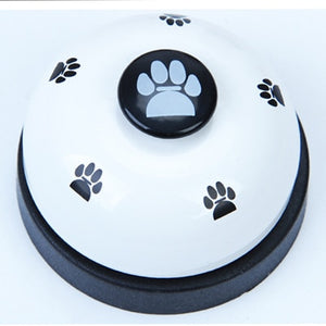 Pet Toy Training Called Dinner Small Bell Footprint Ring Dog Toy