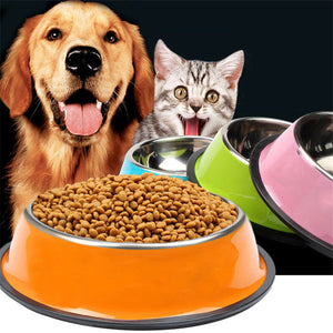 1Pc Pet Dog Bowls
