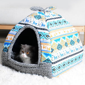 Hot Fleece Soft Pet Yurt Home Dog Bed