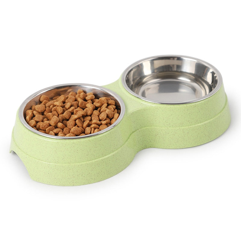 Dog Cat Feeder Bowl Diner Feeding Station Tray with Stand