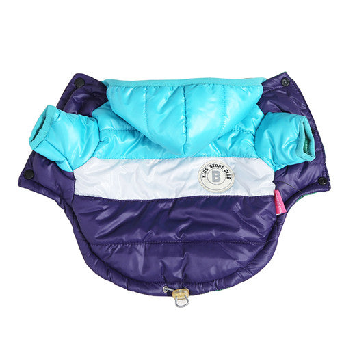 Waterproof Hooded Dog Coat Jacket