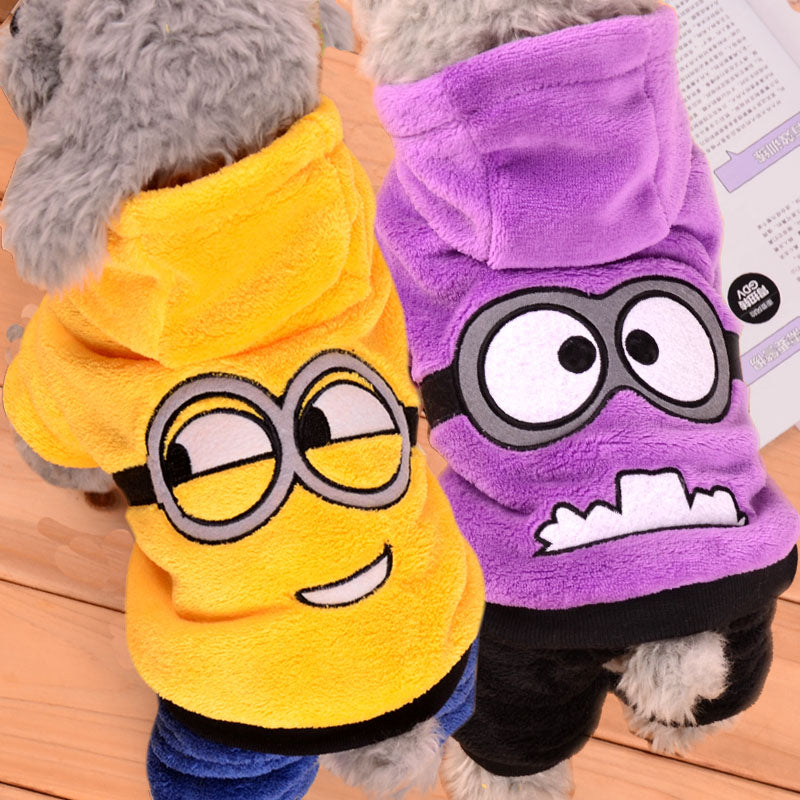 Winter Warm Pet Dog Clothes Soft Fleece Pet Jumpsuits