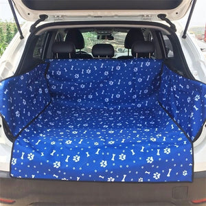 Fabric Paw Pattern Car Pet Seat Cover Dog Car Back Seat Carrier