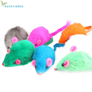 5Pcs/lot Soft Fleece Rabbit Fur False Mouse Pet Cat Toy