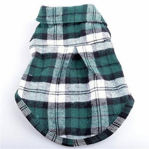 3 Colors Plaids Shirt Lapel Costume Clothes T-shirt