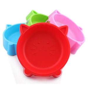 Cute Cat Face Shape Non Slip Feeding Bowl
