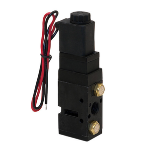 4-Way 2-Position Solenoid Air Valve With Five 1/4 Inch NPT Ports