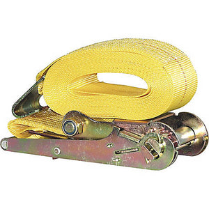 3 Inch x 27 Foot Ratchet Strap With Flat Hooks