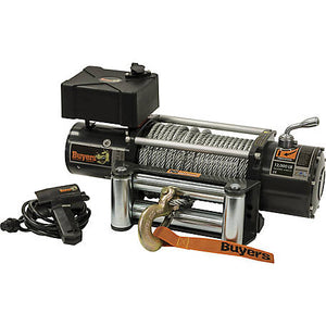 12,000 Pound Electric Winch - 4.9 FPM - 294:1 Gear Ratio