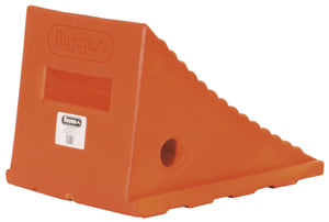 Large Orange Polyurethane Wheel Chock 8.69x11.25x8.13 Inch