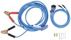 28 Foot Long Booster Cables With Blue Quick Connect