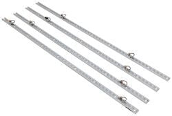 Super Track Kit-(4) Clear Annodized Extruded Aluminum Rails With (8) Tie Rings