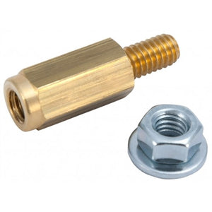 Brass Battery Bolt Adapters Top Terminal 5/16-18 With Nut