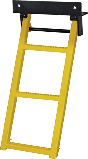 Yellow 3-Rung Retractable Truck Step