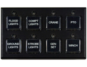 8 Function Switch Panel (Five On/Off, Three Momentary)