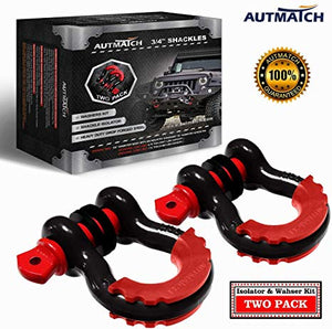 Black Drop Forged Heavy-Duty Towing Shackle