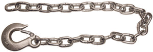 3/8x42 Inch Class 4 Trailer Safety Chain With 1-Clevis Style Slip Hook-43 Proof