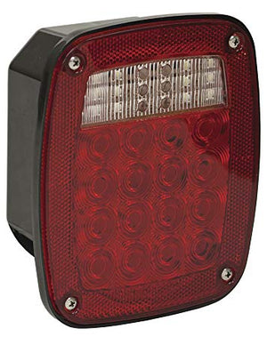 Passenger Side 5.75 Inch Red Stop/Turn/Tail Light