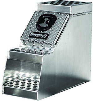24x28x30 Inch Heavy Duty Diamond Tread Aluminum Step Box