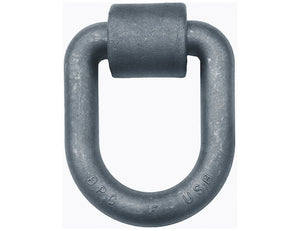 American Made 1 Inch Forged Extended D-Ring with Weld-On Mounting Bracket