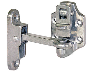 Heavy-Duty Aluminum Door Hold Back - 4 Inch Hook and Keeper
