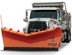 Expressway Plow - 11 Foot Carbon Steel Blade, Full Trip, Drop Pin, 4 Inch Cylinders