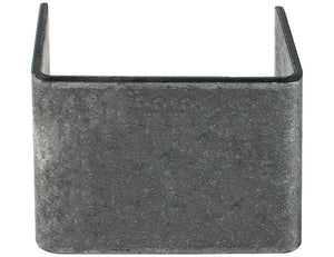 Straight Weld-On Stake Pocket - 1.5x3 Inch Inside x 2.5 Inch Depth