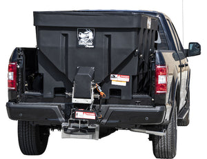 SaltDogg 6.0 Cubic Yard Electric Black Poly/Stainless Steel Hopper Spreader