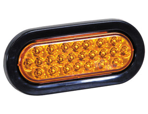 6 Inch Amber Oval Recessed Strobe Light With 24 LED