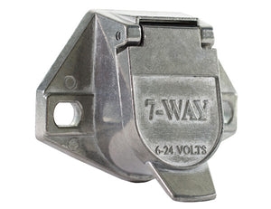 7-Way Die-Cast Metal Trailer Connector - Truck Side