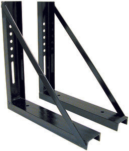 18x24 Inch Bolted Black Formed Steel Mounting Brackets