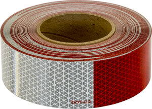 150 Foot Roll Of DOT Conspicuity Tape With 11-Inch Red And 7-Inch White Lengths