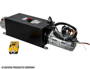 4-Way DC Power Unit-Electric Controls Horizontal 0.75 Gallon Poly Reservoir