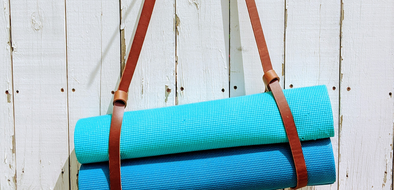 Diy Leather Yoga Mat Strap The Leather Guy