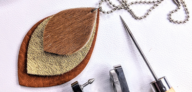 How-To Make An Easy Leather Pendant Necklace
