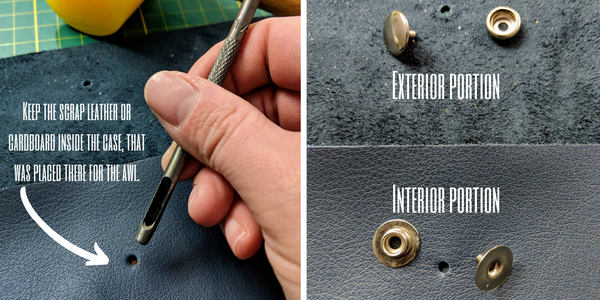 setting a snap in leather