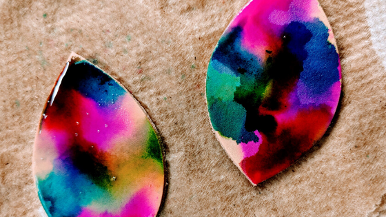 Alcohol Ink And Leather